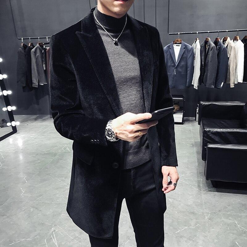 Abrigos de invierno 2018 chaquetas de pelo de conejo para hombre gabardina de alta calidad rompevientos abrigo informal de negocios para hombre talla S-3XL