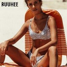 RUUHEE maillots de bain femmes Bikini 2019 maillot de bain à armatures Bikini ensemble Push Up Dot imprimer maillot de bain femmes été femme vêtements de plage