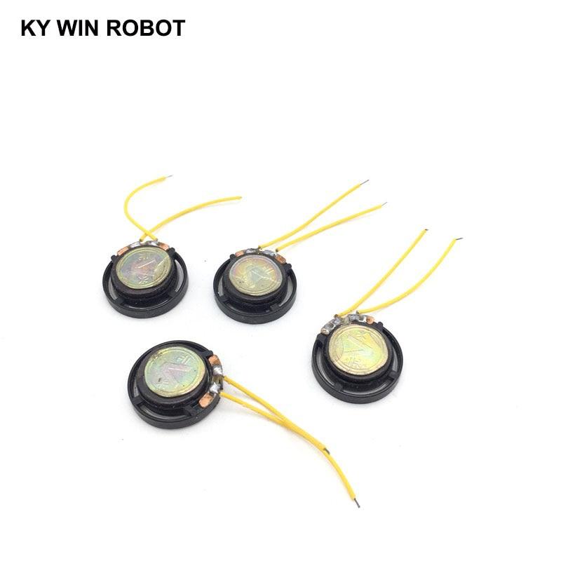 2pcs/lot New Ultra-thin Toy-car horn 8 ohms 0.25 watt 0.25W 8R speaker Diameter 21MM 2.1CM With Wire