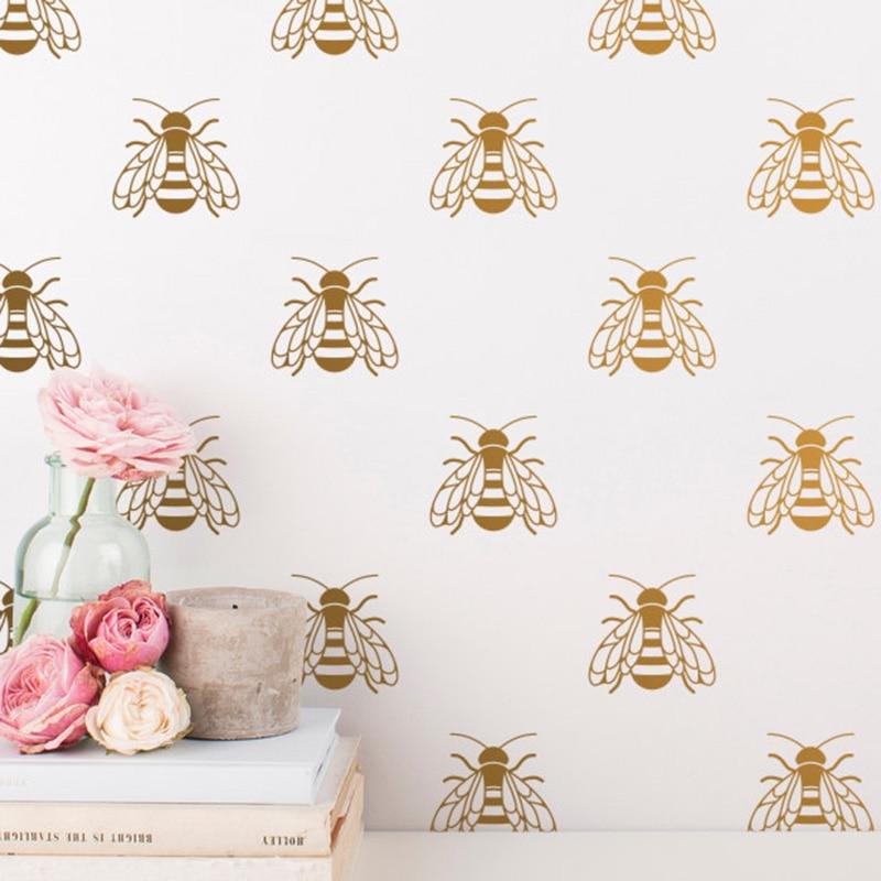 YOYOYU 40 colors Vinyl wall stickers for kid room Honey Bee Removeable Wall Decal Bedroom Livingroom Wall Decor ZX253