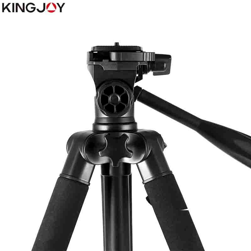KINGJOY Officia VT-860 Video Tripod Kits Camera Stand Profesional Aluminum Alloy For All Models Flexible Portable Stativ Holder enlarge