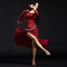 Belly Dance Costume Professional Belly Dance Dress Lace Women Outfits Sets Practice Cosumte Stage We
