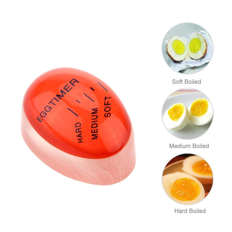 Новый креативный таймер для яиц цветной таймер с изменяющимся повторным использованием смолы Yummy мягкие заваренные яйца таймеры для наблюдения кухонные принадлежности для готовки