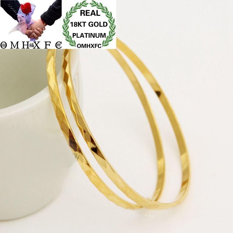 OMHXFC gros mode européenne femme fille fête mariage cadeau Slim étoiles complètes géométriques 18KT or Bracelets BE53