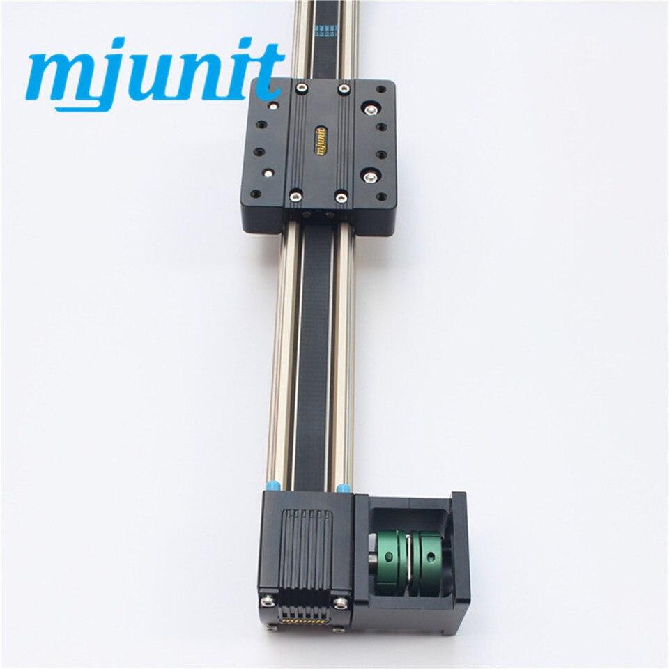 وحدة خطية ميكانيكية مع أدلة أسطوانة خارجية ، يتم دفعها بحزام مسنن داخلي مغطى بالكامل.