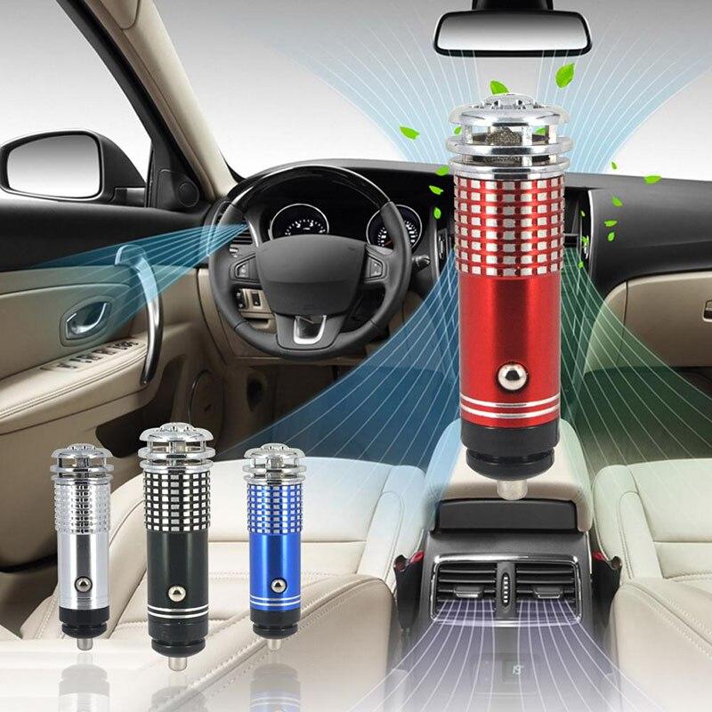 12v mini carro purificador de ar do carro auto ar fresco ânion lonic purificador de ar barra oxigênio ozônio mais limpo ambientador