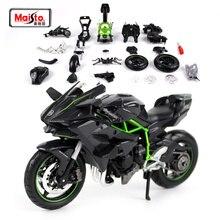 Maisto 112 Kawasaki Ninja H2R Montage Diy Motorcycle Bike Model Kit Gratis Verzending Nieuwe Collectie 39198