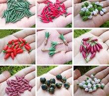 Heißer Verkauf 1/12 Skala Mini Gemüse Pretend Play Mini Lebensmittel Spielen Puppenhaus Miniatur Gemüse Modell Großhandel