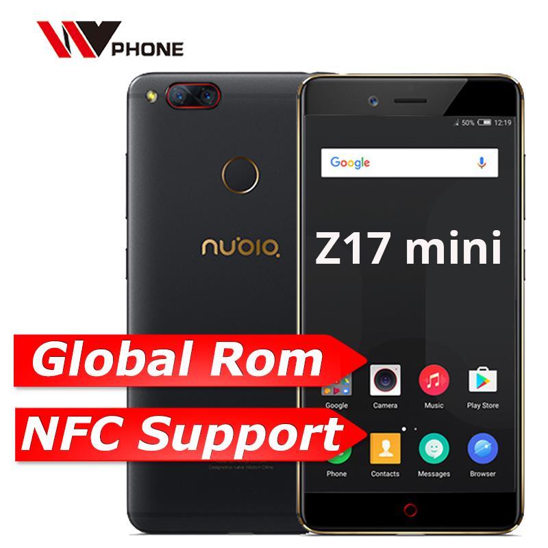 "Nubia Z17 Mini 4GB 64GB ROM global teléfono móvil Octa Core 5,2 ""1920X1080P trasera doble 13.0MP huella dactilar NFC banda 7"