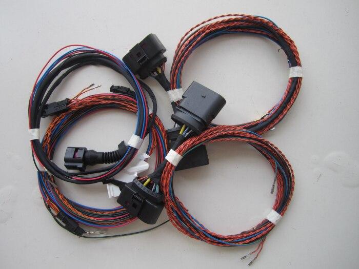 BODENLA Faixa de Nivelamento Automático LEVOU Farol Curvas AFS Fio Para VW Golf VI GTI 6 Xenon Lâmpada de 10 a 14 adaptador