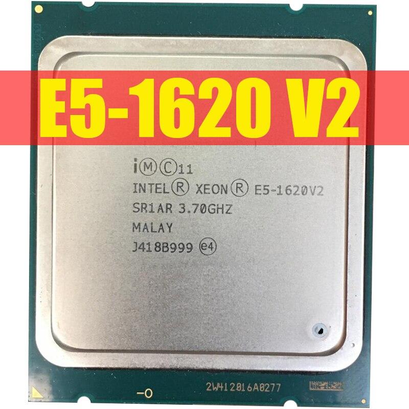 Processador intel xeon e5 1620 v2 E5 1620 cpu l3 = 10 mb 3.7 ghz lga 2011 processador de servidor 100% trabalhando corretamente processador desktop CPUs    -
