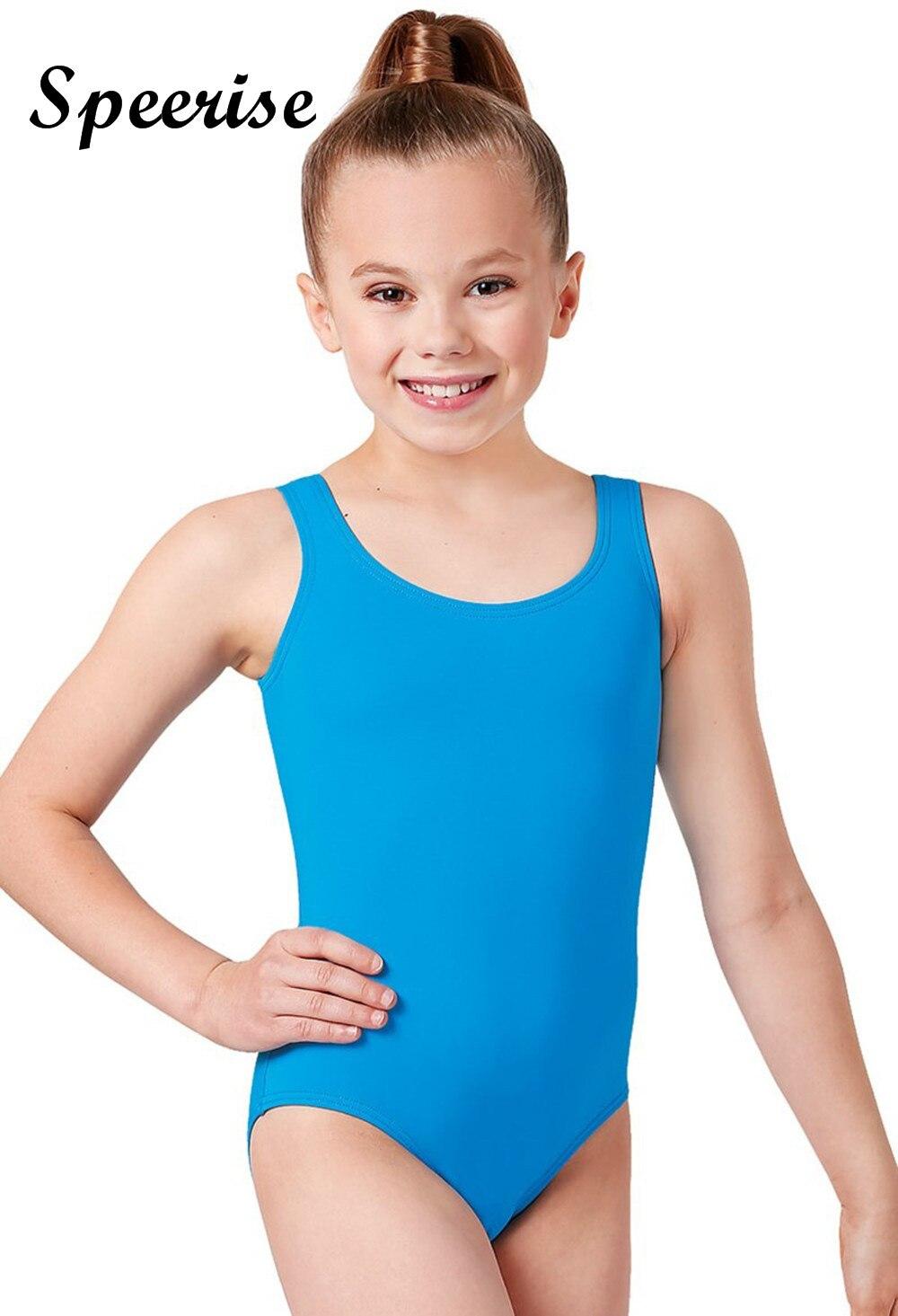 Speerise enfant réservoir sans manches justaucorps enfants Spandex Ballet justaucorps garçon gymnastique Costumes
