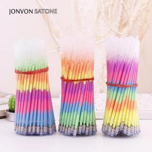 Jonvon Satone 100ps Color Pen Wholesale Rainbow pens Korean Creative Pen Stationery Office Supplies Kids School Stationary Gifts