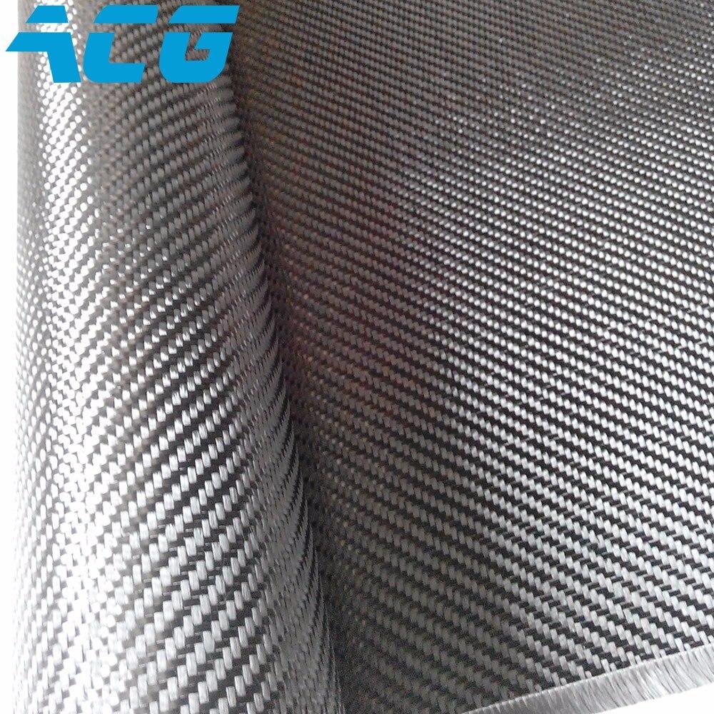 Telas de fibra de carbono auténtica de 50 metros, 6K, 320g, tejido de sarga/tejido liso