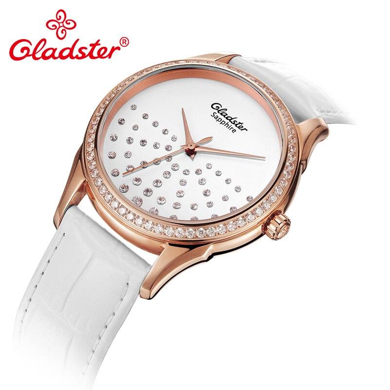 Gladster Emblem Sale Fashion Woman Quartz Wristwatch Water-Resistant Sapphire Crystal Female Watch Rhinestone Lady Dress Watch enlarge