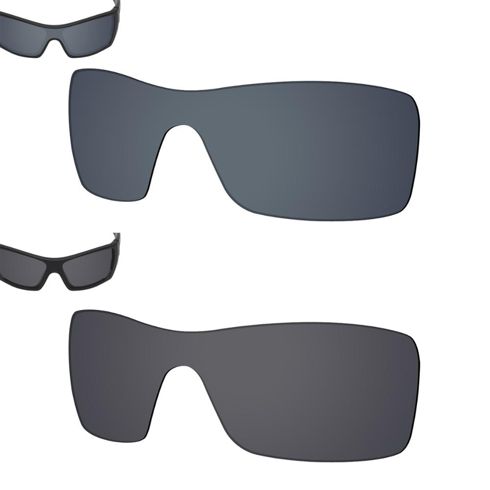 SmartVLT 2 Pieces Polarized Sunglasses Replacement Lenses for Oakley Batwolf-Black Shield and Solid