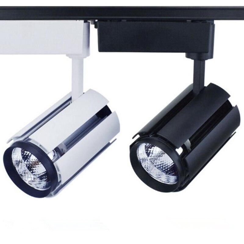 مصباح تتبع LED عالي الكفاءة ، 30 وات ، غطاء أبيض/أسود ، COB ، مصباح ، إضاءة متجر القماش ، شحن سريع ، بيع بالجملة من المصنع ، شحن مجاني