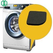 WHISM 8 pièces jambe en caoutchouc noir tapis anti-dérapant chaise de réfrigérateur pieds de bureau tapis Machine à laver