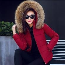 Female Warm Winter Jacket 2019 Fashion Women Winter coat Hooded False hair collar Down Cotton Coat Large size 5XL Female Coat