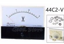 44C2 DC 1V 2V 3V 5V 10V 15V 20V 30V 50V 75V Voltímetro analógico voltímetro cuadrado de voltaje de CC