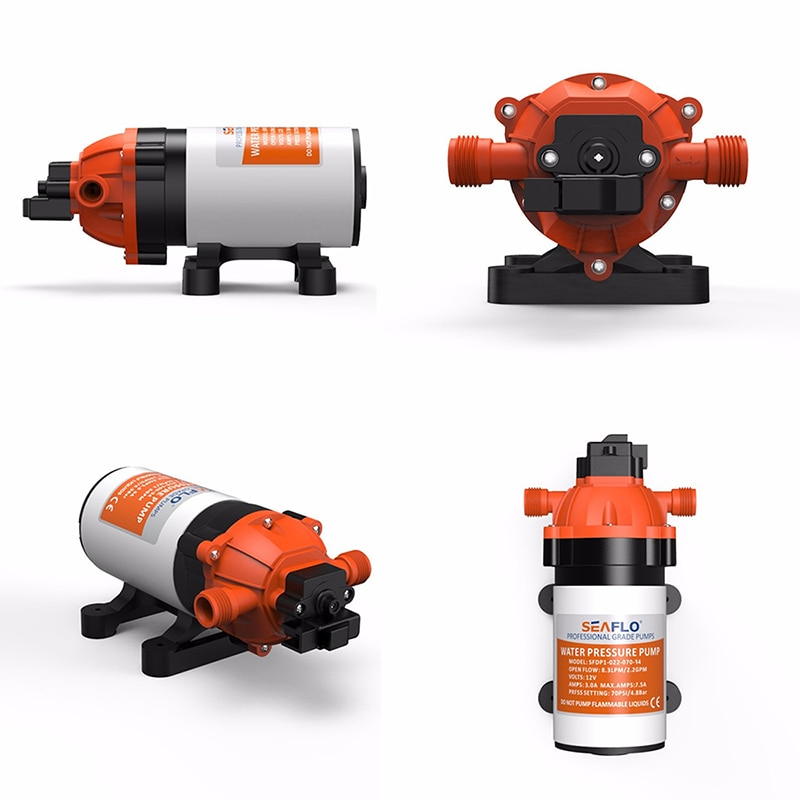 12V/24V Electric Diaphragm Water Pump Marine RV Boats from SEAFLO Marine Boat Accessories enlarge