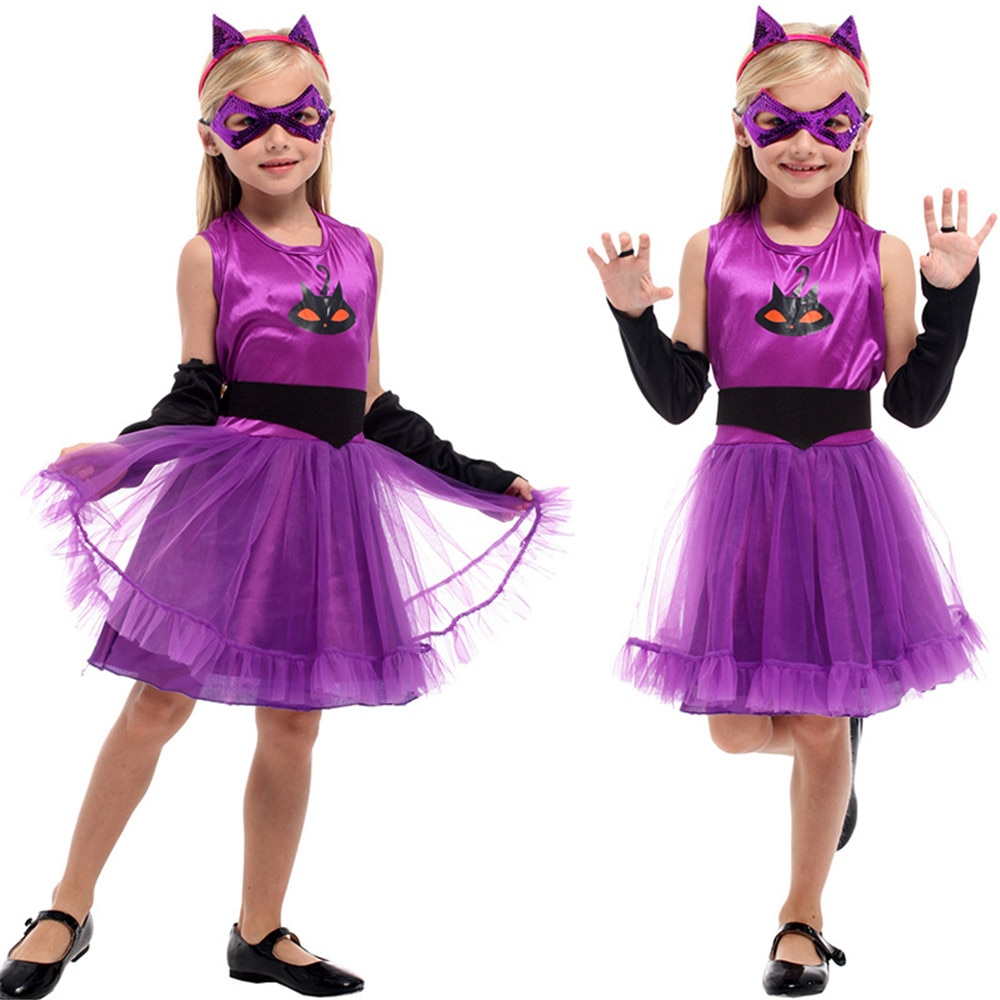 Purim disfraz de halloween para niños bebés niñas disfraz de bruja vampiro niña cosplay carnaval fiesta vestido lujoso de princesa