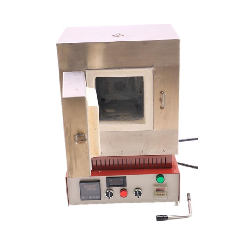 Dental Burnout Furnace Dental Lab Burnout Oven Ceramic Fiber Heating  Muffle Furnace for preheating crucible and wax elimination