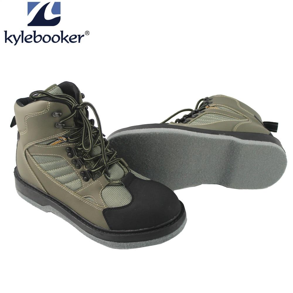 حذاء صيد برقبة للخوض في الماء ، للرجال, حذاء صامد للماء يغطي الساقين للصيد في الهواء الطلق يسمح بمرور الهواء مضاد للانزلاق