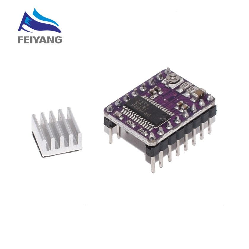 Piezas de impresora 3D, Stepstick Drv8825, controlador de Motor paso a paso, Reprap disipador térmico, reemplazo del controlador A4988 a rampas 1,4 1,5 1,6, placa de Control