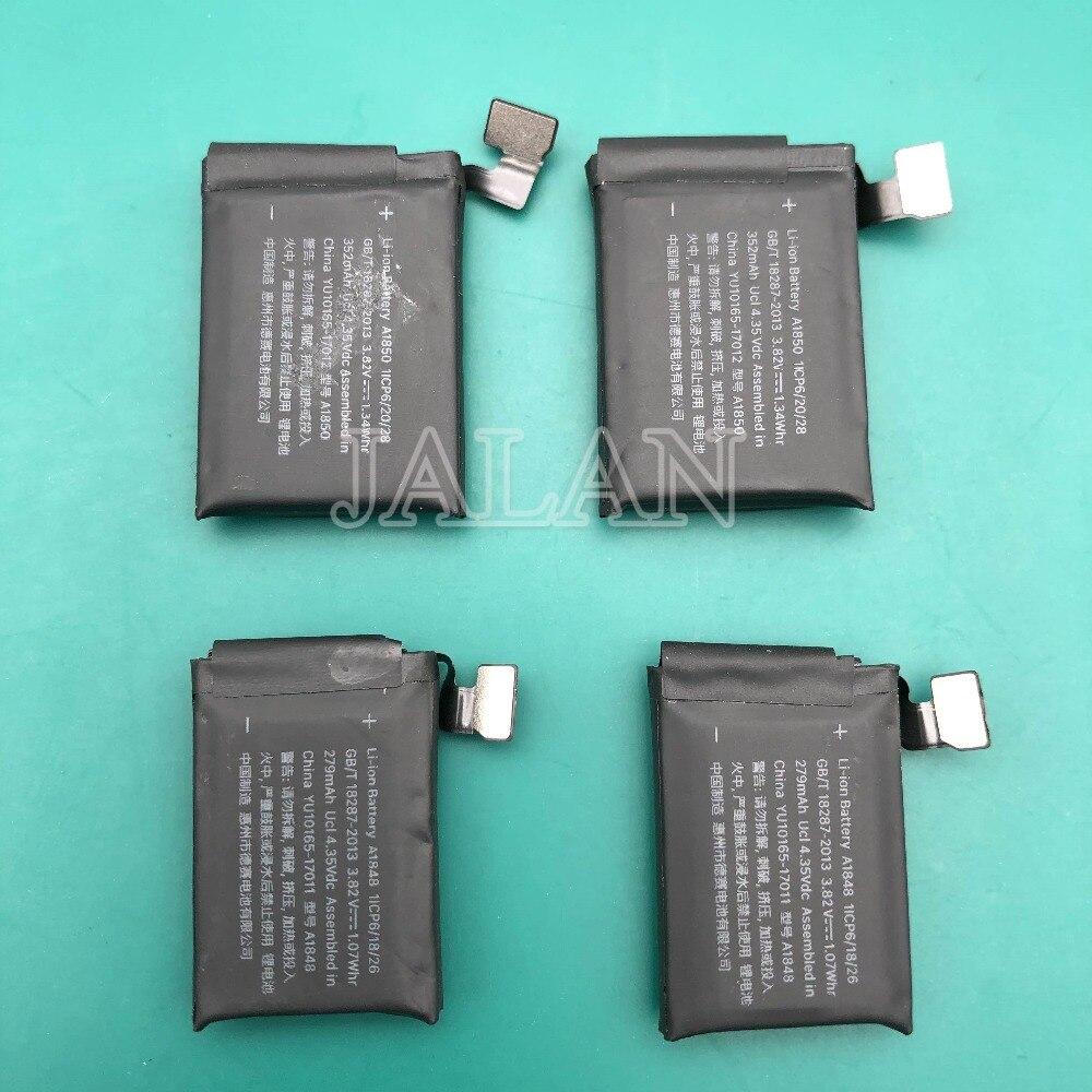 La mejor calidad de la batería para Apple Watch Serie 3 + GPS + celular (LTE) A1848 Real 279mAh 38 mm A1850 Real 352mAh 42mm