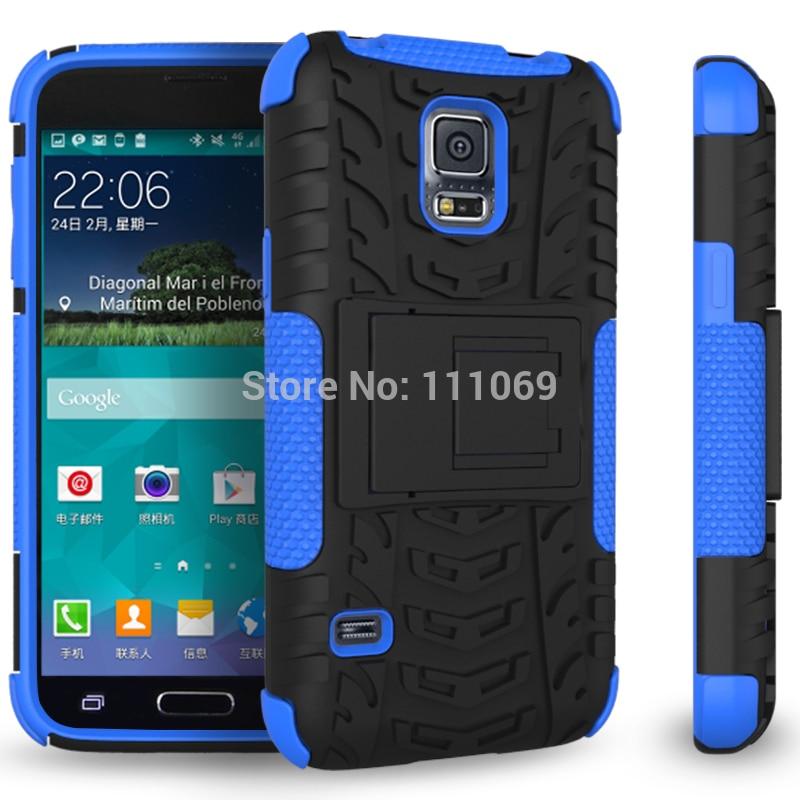 Ruge-جراب هاتف خلوي 2 في 1 مع دعم للروبوت ، 500 قطعة ، شحن DHL مجاني ، S5 mini case ، Samsung Galaxy s5 mini