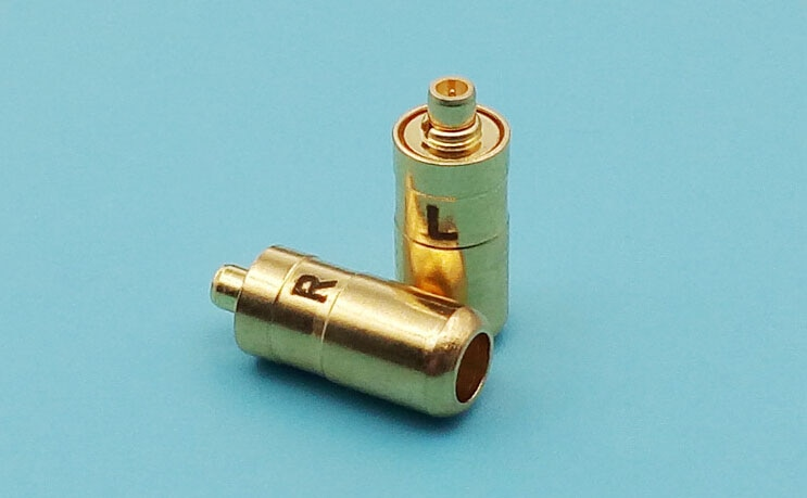دبابيس سماعة رأس معدنية مطلية بالذهب ، 40 قطعة ، شحن مجاني ، خيط داخلي ، لshure SE535 SE425 se846