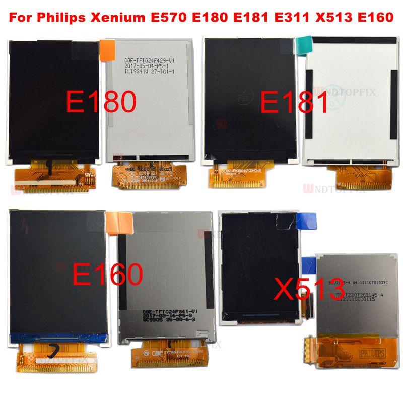 100% протестированный оригинал для Philips Xenium E180 E181 E311 X513 E160 ЖК-экран запасные части с инструментами Бесплатная доставка