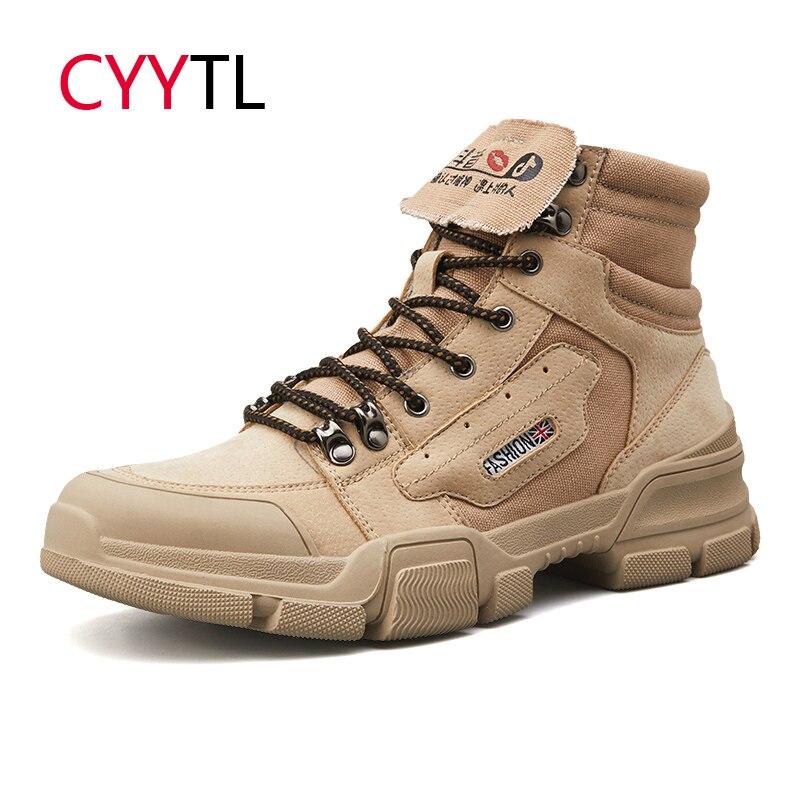 Zapatos de motociclista CYYTL de alta calidad para Hombre, cuero de moda, Zapatos de seguridad para el trabajo, Botas de Hombre, Botas de Hombre, Botas, Botas militares Timblerland