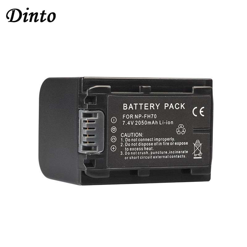 Dinto 2050Mah NP-FH70 Np FH70 Oplaadbare Li-Ion Batterij NPFH70 Camera Batterijen Voor Sony Hdr HC3 HC7 HC9E UX5E UX7 CX7E
