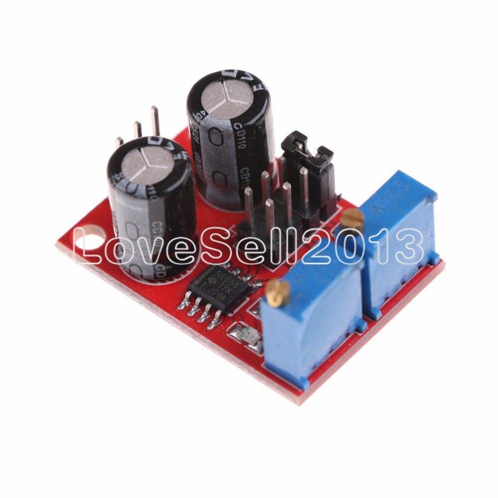 10 шт. NE555 импульсный генератор Частотный рабочий цикл регулируемый модуль квадратный/прямоугольный волновой шаговый двигатель светодиодны...