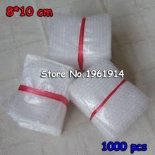 8*10cm 1000 pièces amorti bulle sacs bulle enveloppe de protection Bolsa Burbuja emballage gonfler mousse emballage Verpackungen Schaum