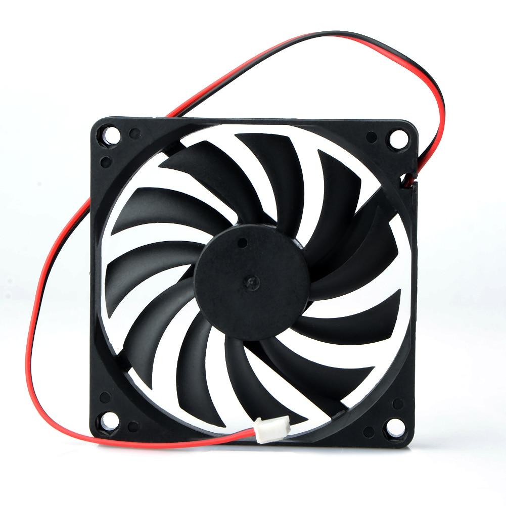 1 шт. 80 мм 2 Pin DC 12 вольт 2 P разъем охлаждающий вентилятор для компьютера чехол кулер для процессора Radiato 8010 DC осевой поток охлаждающий вентилятор