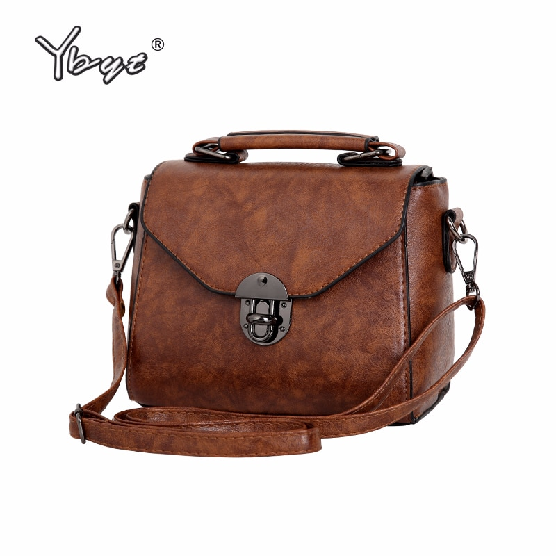 AliExpress - YBYT brand 2019 new vintage casual women PU leather small package female simple handbags ladies shoulder messenger crossbody bag