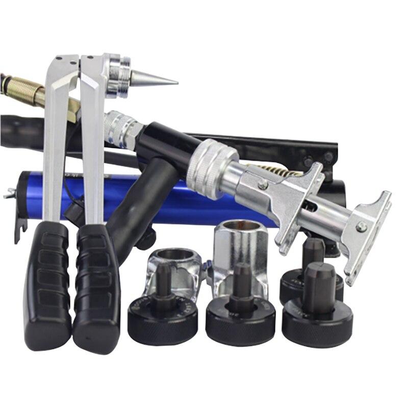 Hydraulische Tube Expander Kit Sliding tool Hydraulische Pijp Expander Heavy Sanitair Buis Sanitair Airconditioner met handpomp