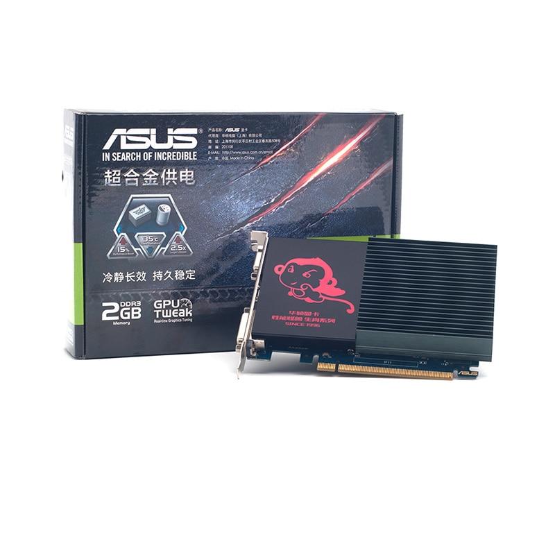 كامل جديد ، ASUS GT710-SL-2G كتم الرسومات HDMI DVI VGA DDR3