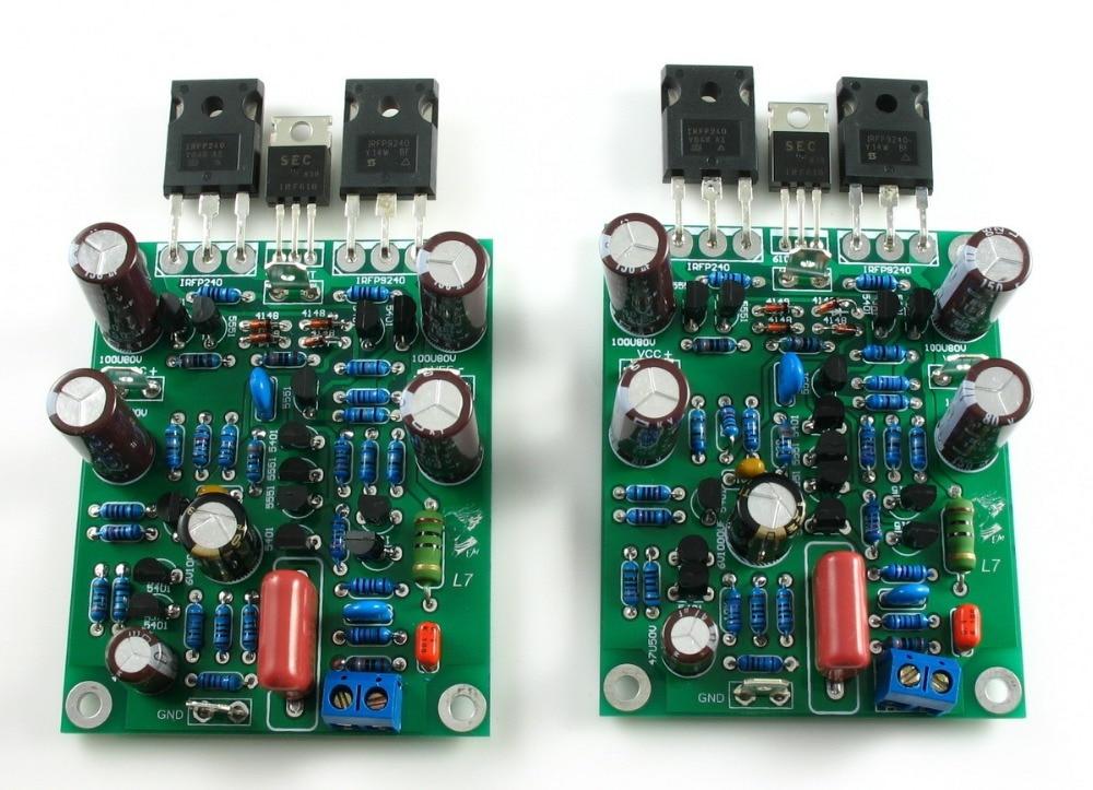 L7 Class AB MOSFET IRFP240 IRFP9240 FET tube IRF610 Transistor Audio Power Amplifier 2.0 channel 300-350WX2 Amplifier Board