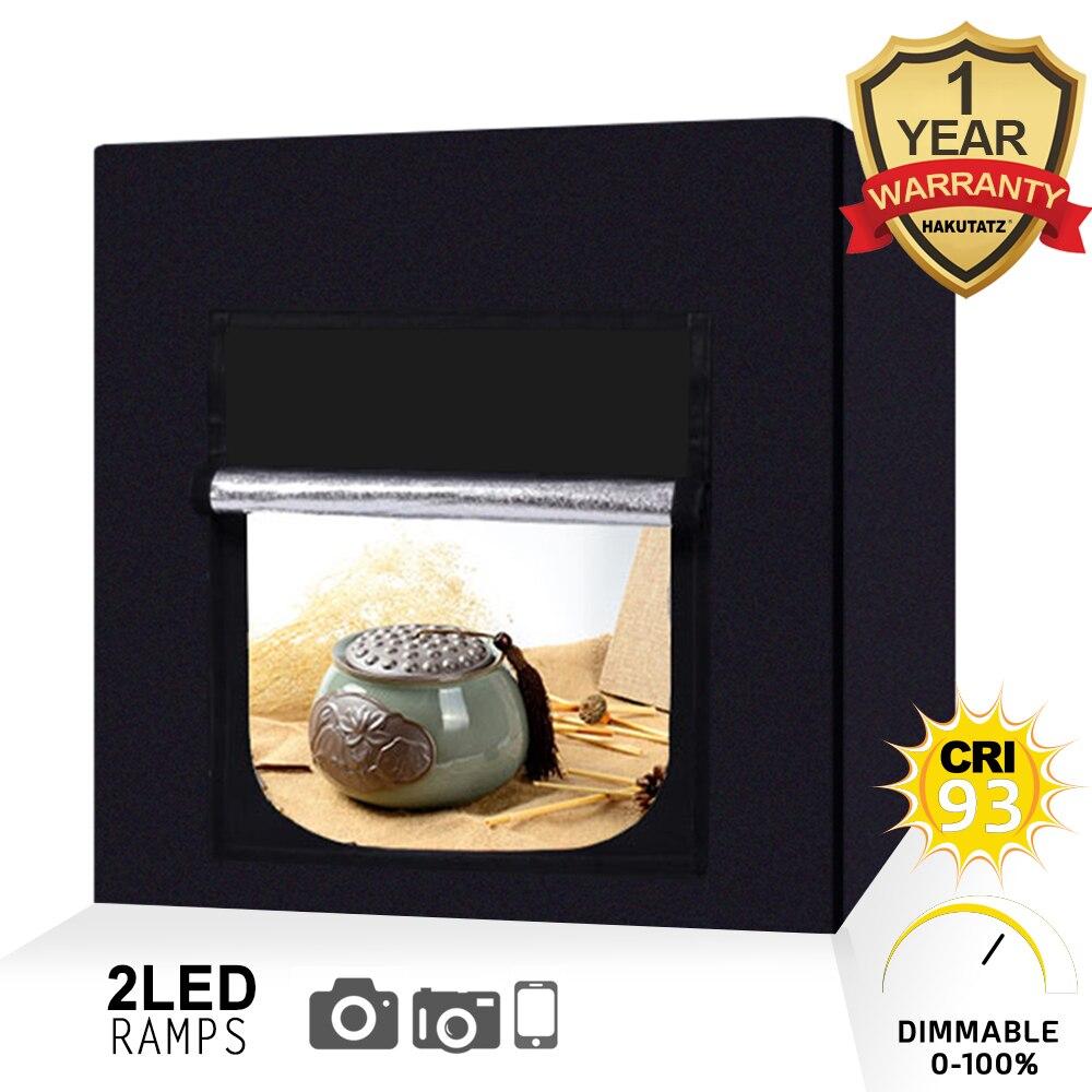 Caja de luz de estudio fotográfico LED portátil 40X40X40CM regulable 84 Uds. Caja de luz LED grande con 4 Uds. De tela de fondo de PVC