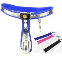 stainless steel t type chastity pants penis bondage arc chastity belt lock cage male chastity device sex toys for men g7 4 62