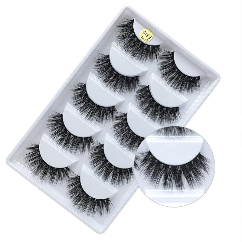 Romantic Bear Mink lashes 5 pairs pack handmade reusable 3D mink hair fake eyelashes makeup thick natural long 600sets/lot DHL
