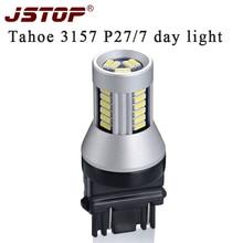 JSTOP Tahoe feu de jour led   led 12-24V T25 3157 P27/7W 6000k 500LM, ampoules externes, lampes de jour, voiture led