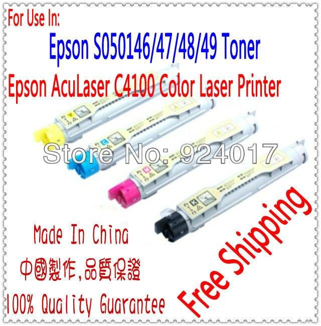 لإبسون AcuLaser C4100 C4100n 4100 طابعة خرطوشة الحبر ، لإبسون AL-C4100 AL-C4100N S050146 S050147 S050148 S050149 الحبر