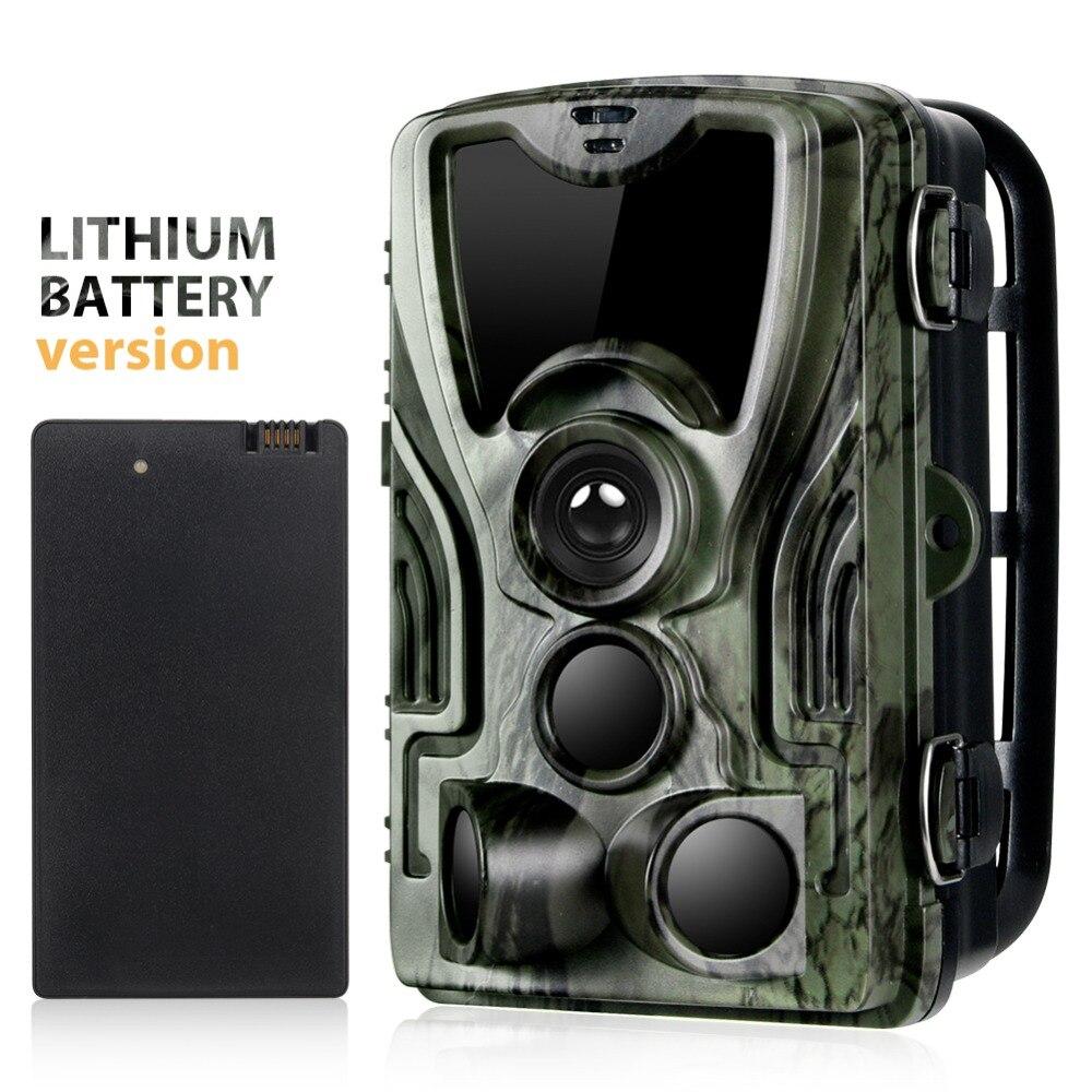 Suntekcam HC-801A Caça Câmera Com 5000 Mah Bateria De Lítio 16MP 64 GB Câmera Trilha 850nm IP65 Foto Armadilhas 0.3 s câmera selvagem