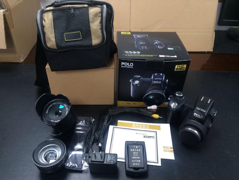 PROTAX D7100 33MP fotocamere digitali professionali a forma di DSLR teleobiettivo 24X obiettivo zoom digitale 8X obiettivo grandangolare luce LED