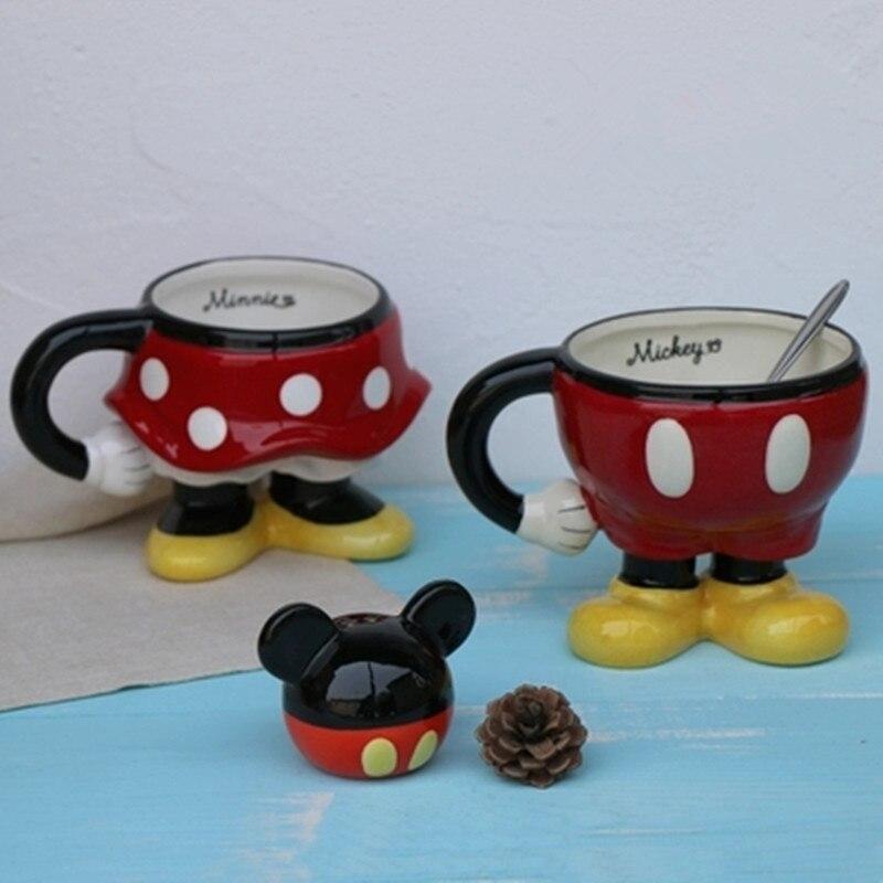 Gran oferta taza de café de cerámica de dibujos animados 3D taza de agua pintada a mano con diseño de ratón taza de beber para niños envío gratis